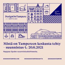 DesignOnTampere -kesäsuunnistus 4.-20.6.2021